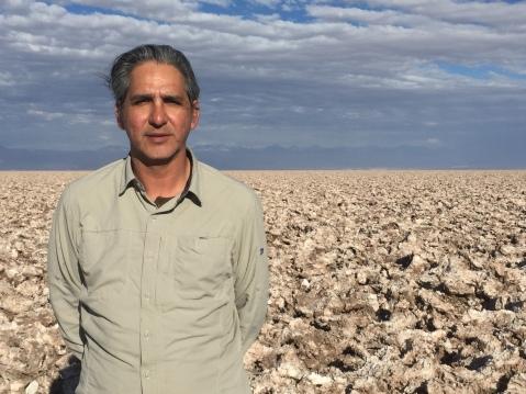 Gonzalo Pimental on the salt flat.